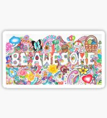 Be Awesome-Doodle Art Sticker