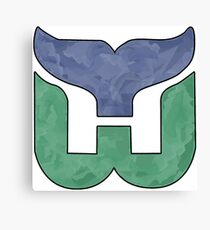 Hartford Whalers CT Logo Watercolor (see profile for regular) Canvas Print