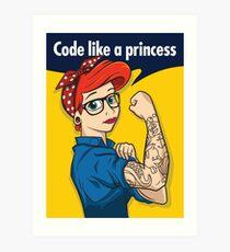 Code like a princess Art Print