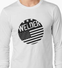 Welder: Black Flag (Circle) Long Sleeve T-Shirt