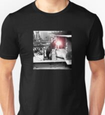 Vintage Female Worker with Oxy-Fuel Cutter Unisex T-Shirt