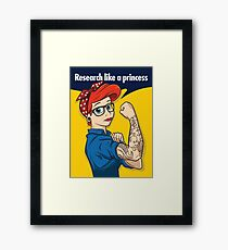 Research like a princess Framed Print