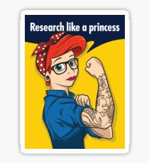 Research like a princess Sticker