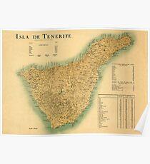 Map Of Tenerife 1910 Poster