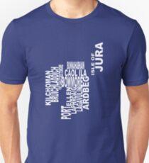 Islay Distillery Map Slim Fit T-Shirt
