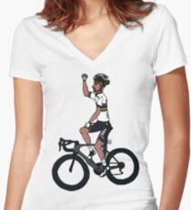 Sagan Women's Fitted V-Neck T-Shirt