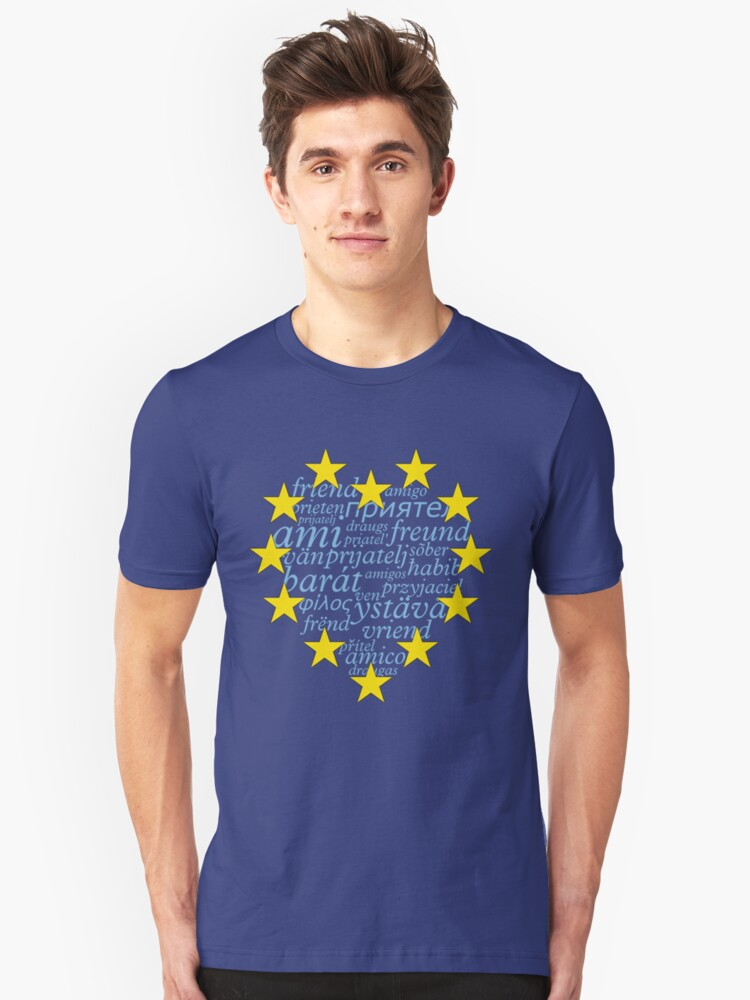 Friends with Europe Unisex T-Shirt Front