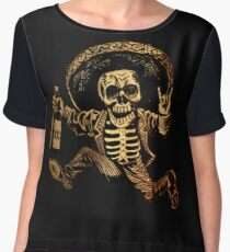 Posada Day of the Dead Outlaw Women's Chiffon Top