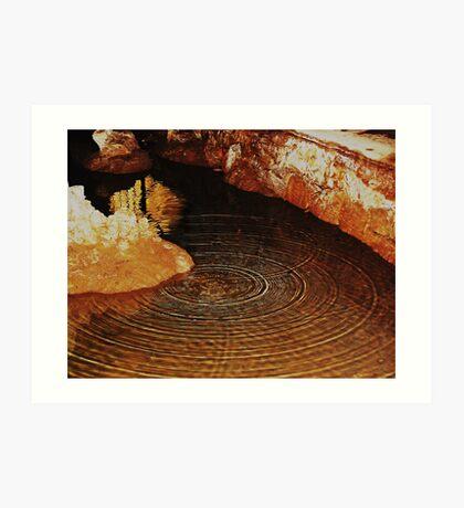 THE RIPPLE EFFECT.............Yarrangobilly Caves. Art Print