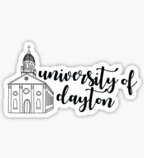university of dayton chapel [w/ words] Sticker