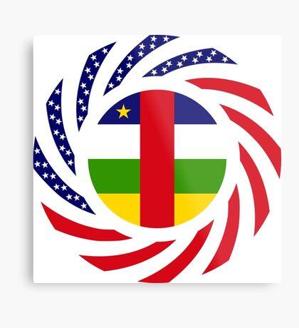 Central African Republic American Multinational Patriot Flag Series Metal Print