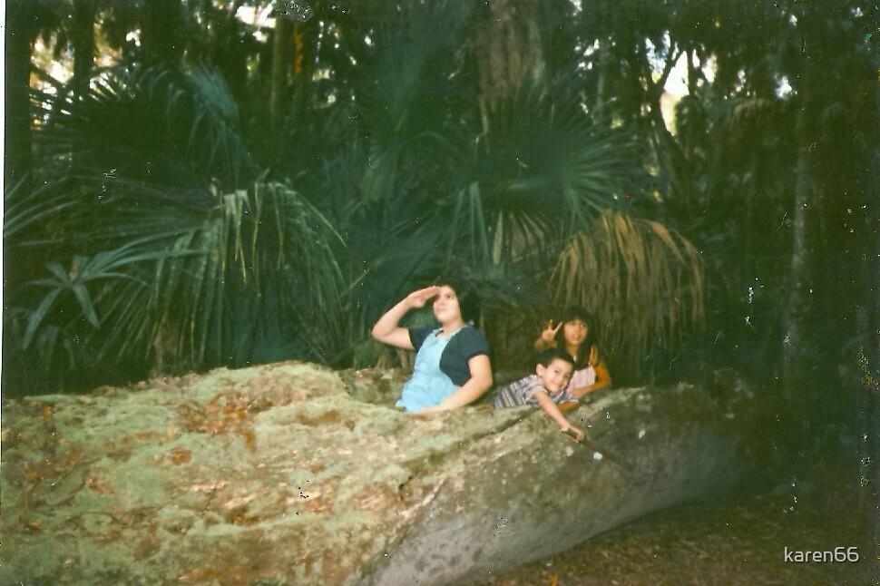 Kids In A Tree Boat by karen66