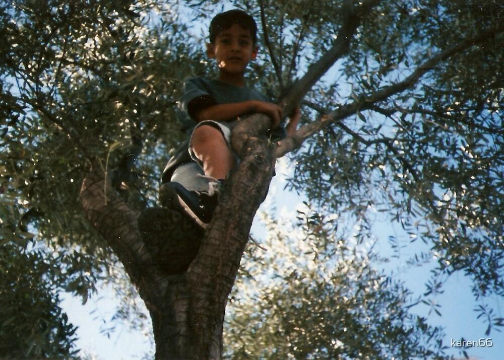 Kid In A Tree by karen66