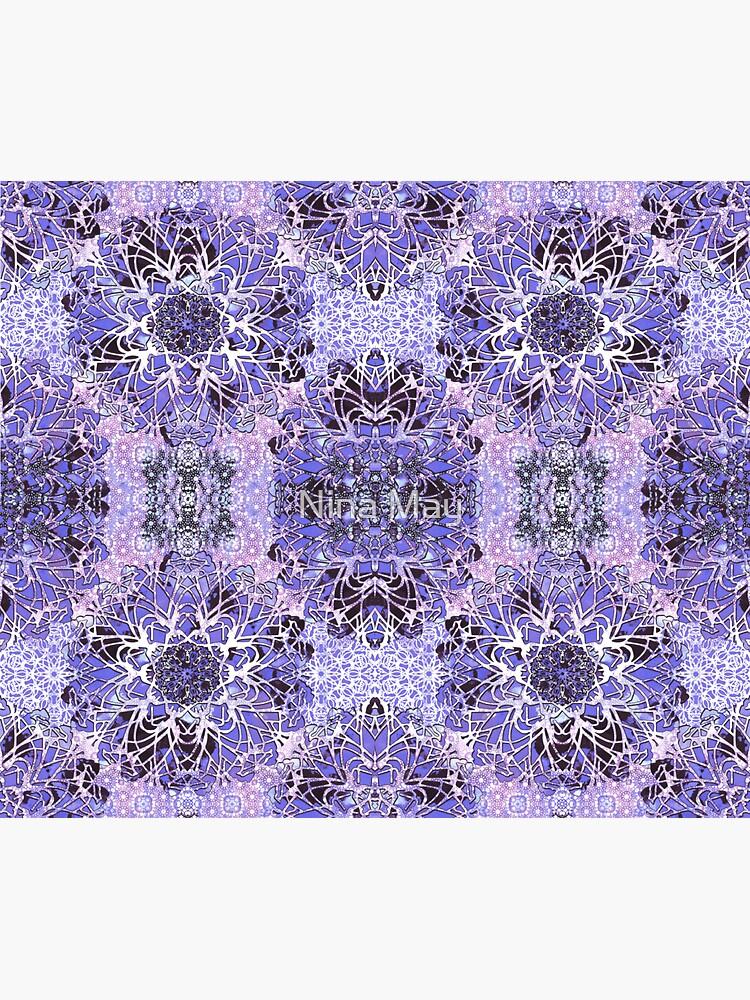 Boho Lavander Crochet Mandala by ninabmay