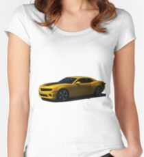 Chevy Camaro - Transformers Bumblebee  Women's Fitted Scoop T-Shirt