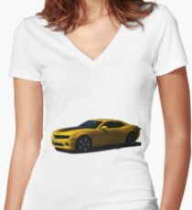 Chevy Camaro - Transformers Bumblebee  Women's Fitted V-Neck T-Shirt