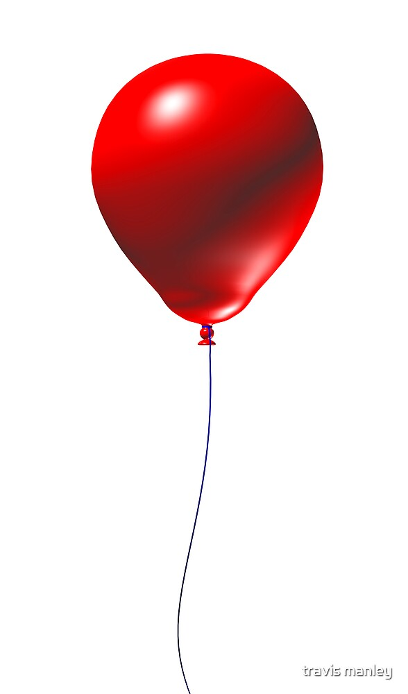 Red 3d Balloon by travis manley