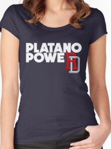 DOMINICAN REPUBLIC BASEBALL TEAM SUPPORT PLATANO POWER Women's Fitted Scoop T-Shirt