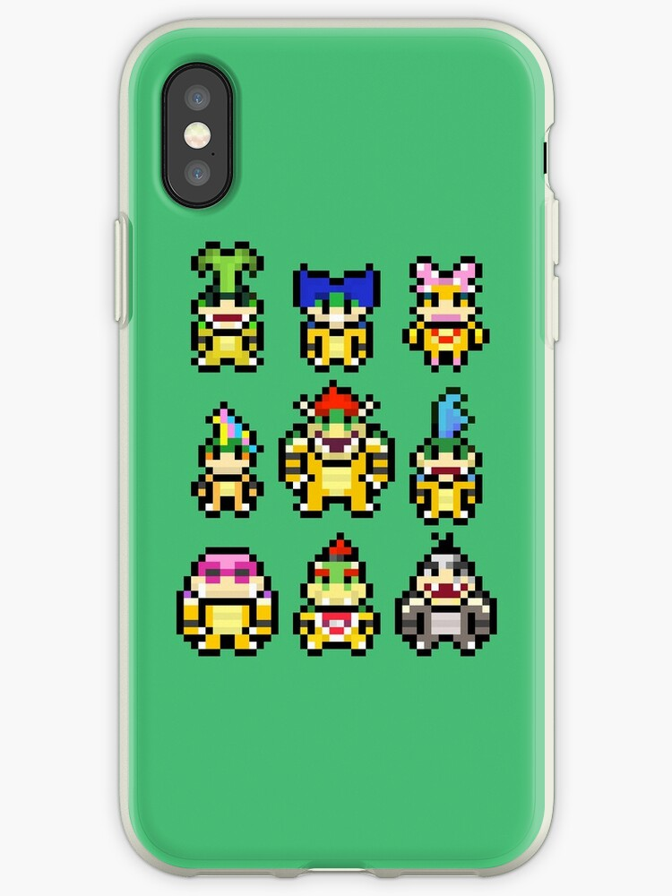 Mario Koopa Squad Iphone Case By Mudkatpixels