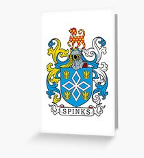 Spinks Coat of Arms Greeting Card