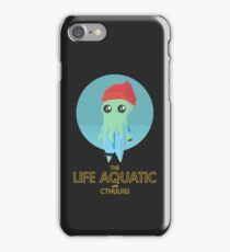The Life Aquatic with Cthulhu (black) iPhone Case/Skin