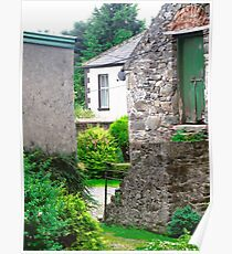 Farm Buildings and Farm House, Donegal, Ireland Poster