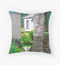 Farm Buildings and Farm House, Donegal, Ireland Throw Pillow