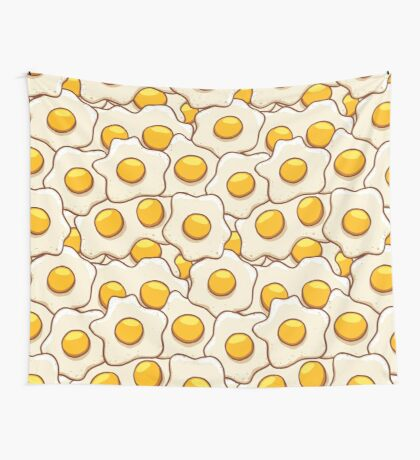 Fried Eggs Background Seamless 2 Wall Tapestry