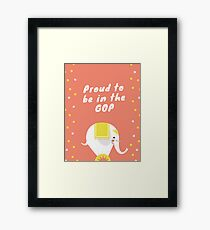 Proud to Be in the GOP Framed Print