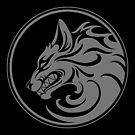 Knurrender grauer und schwarzer Wolfsrudel von jeff bartels