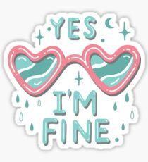 yes i'm fine Sticker
