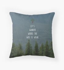 Wander where the wifi is weak Throw Pillow