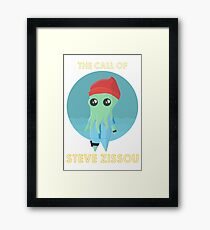 The Call of Steve Zissou 2 (white) Framed Print