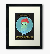 The Call of Steve Zissou 2 (black) Framed Print
