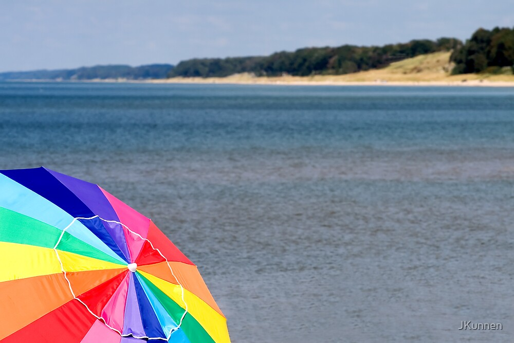 Beach with Umbrella by JKunnen