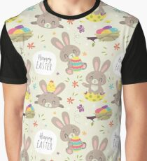 cartoon style easter bunny  Graphic T-Shirt