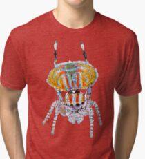 Peacock Spider (Maratus volans) Large Design Tri-blend T-Shirt
