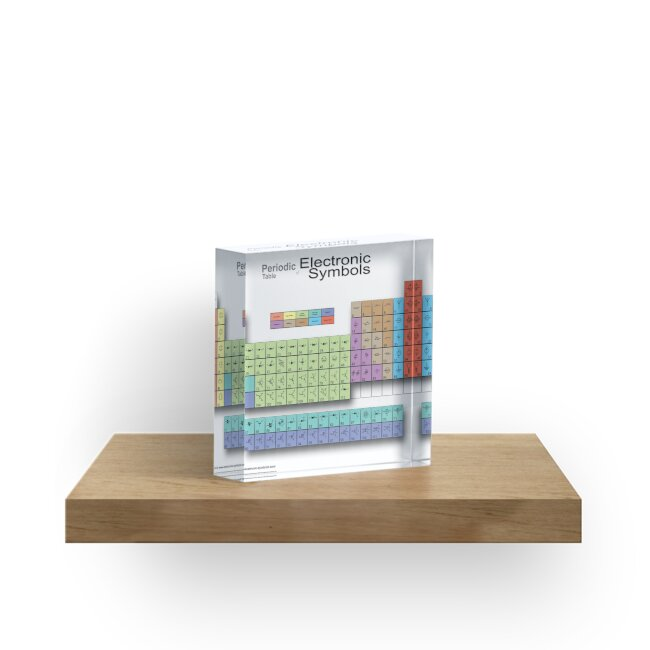Periodic table of electronic symbols acrylic blocks by ricemann periodic table of electronic symbols by ricemann urtaz Image collections