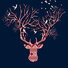 Christmas Stag by modernistdesign