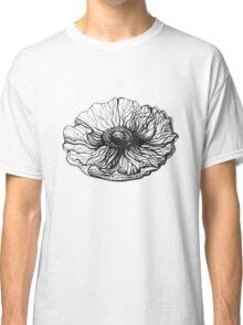 poppy graphic spring design nature illustration flower bw Classic T-Shirt
