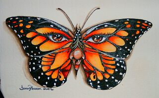 Butterfly Eyes by artwoman3571