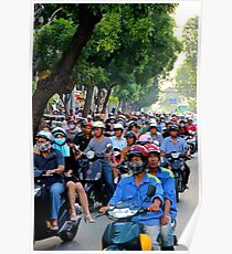 Countless Motorbikes - Ho Chi Minh City, Vietnam. Poster
