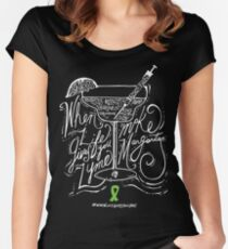 #whenlifegivesyoulyme  Make Margaritas Women's Fitted Scoop T-Shirt