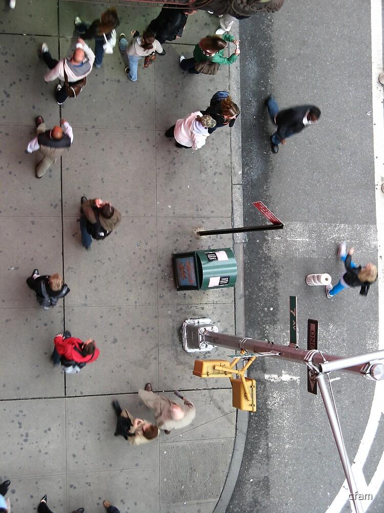 Times Square sidewalk... by cfam