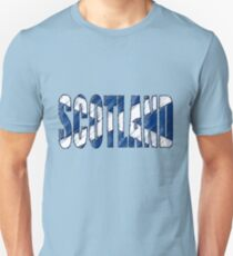 Scotland Font with Scottish Flag Unisex T-Shirt