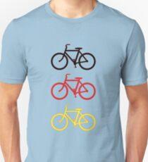 BLACK RED YELLOW BICYCLE PATTERN Unisex T-Shirt