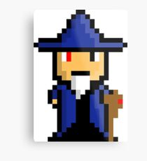 Pixel Art Wizard Metal Print