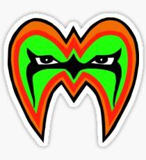 Ultimate Warrior mask Sticker
