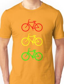 RED YELLOW GREEN BICYCLE PATTERN Unisex T-Shirt