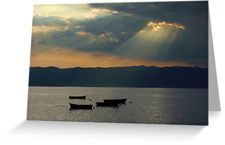 Fisherman's boats by Peco Grozdanovski